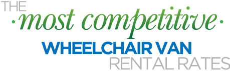 The most competitive wheelchair van rental rates! View our rates