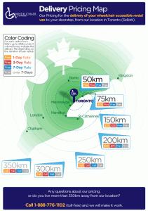 Wheelchair Van Rental Map Ontario